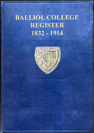 balliol college, register, 1832-1914.