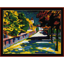 autumn in bavaria - kandinsky cross stitch pattern by cross stitch collectibles