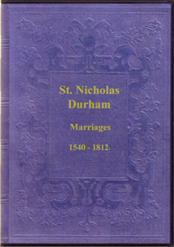 The Marriage Registers of St. Nicholas, Durham. | eBooks | Reference