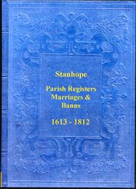 the parish registers of stanhope, in the county of durham