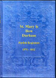 the parish registers of st. mary le bow, durham