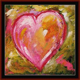 hannah's heart - dan scharf cross stitch pattern by cross stitch collectibles