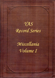The Yorkshire Archaeological Society. Record Series. Volume LXI Miscellania Volume I | eBooks | Reference