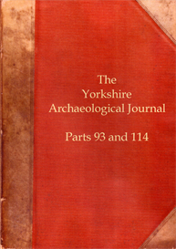 The Yorkshire Archaeological Journal. Part 93 (published in 1916). Part 114 (published in 1928). | eBooks | Reference