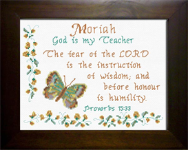 Name Blessings - Moriah | Crafting | Cross-Stitch | Religious