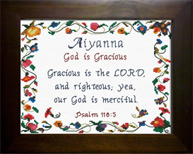 name blessings - aiyanna