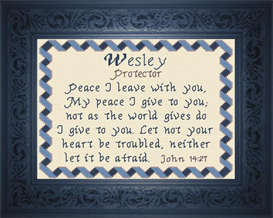 name blessings - wesley