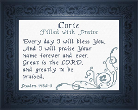 name blessings - corie