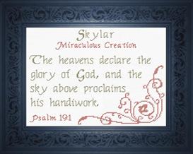 name blessings - skylar