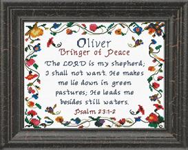 name blessings - oliver