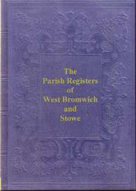 west bromwich parish registers, 1606 to 1658. stowe parish registers, 1613 to 1679.