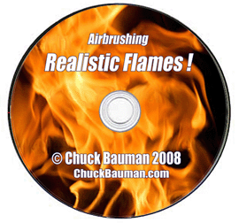 realistic flames airbrushing by chuck bauman