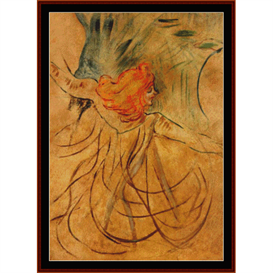 Loie Fuller - Lautrec cross stitch pattern by Cross Stitch Collectibles | Crafting | Cross-Stitch | Wall Hangings
