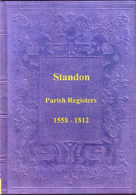 the parish registers of standon, staffordshire.