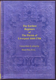 the parish registers of liverpool, 1660-1704.