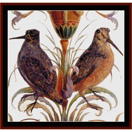 american woodcock - wildlife cross stitch pattern by cross stitch collectibles