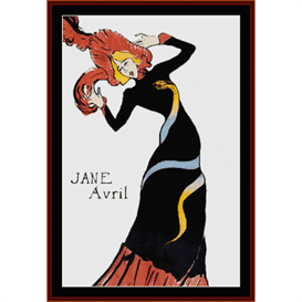 jane avril - lautrec cross stitch pattern by cross stitch collectibles