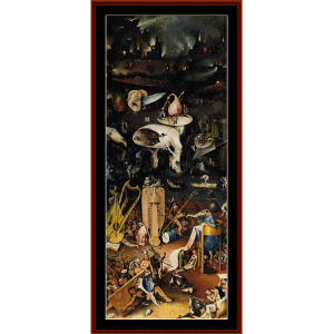 Garden of Earthly Delights (Left) - Bosch cross stitch pattern by Cross Stitch Collectibles | Crafting | Cross-Stitch | Wall Hangings
