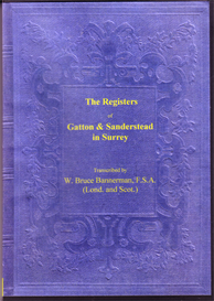 the parish registers of gatton and of sanderstead in surrey