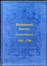 the parish registers of richmond, surrey.