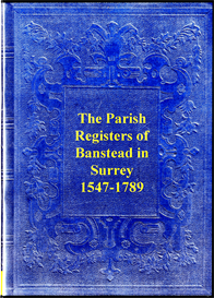 the parish registers of banstead in surrey.