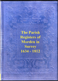 the parish registers of morden in surrey.